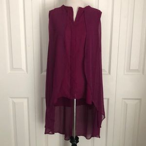 A New Approach Magenta Sleeveless HighLow size L